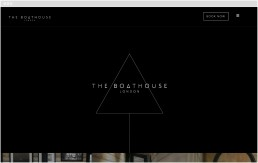 The Boathouse London home web page