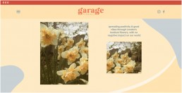garage florals website