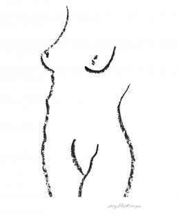 Nude+Illustration white