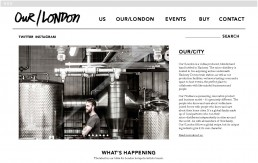 Our Vodka London home page website design