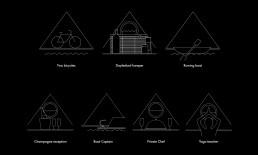 Boat facilities icons