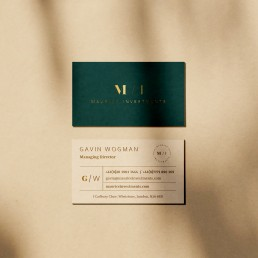 maurice investments business cards