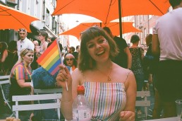 Lucy at Pride 2018