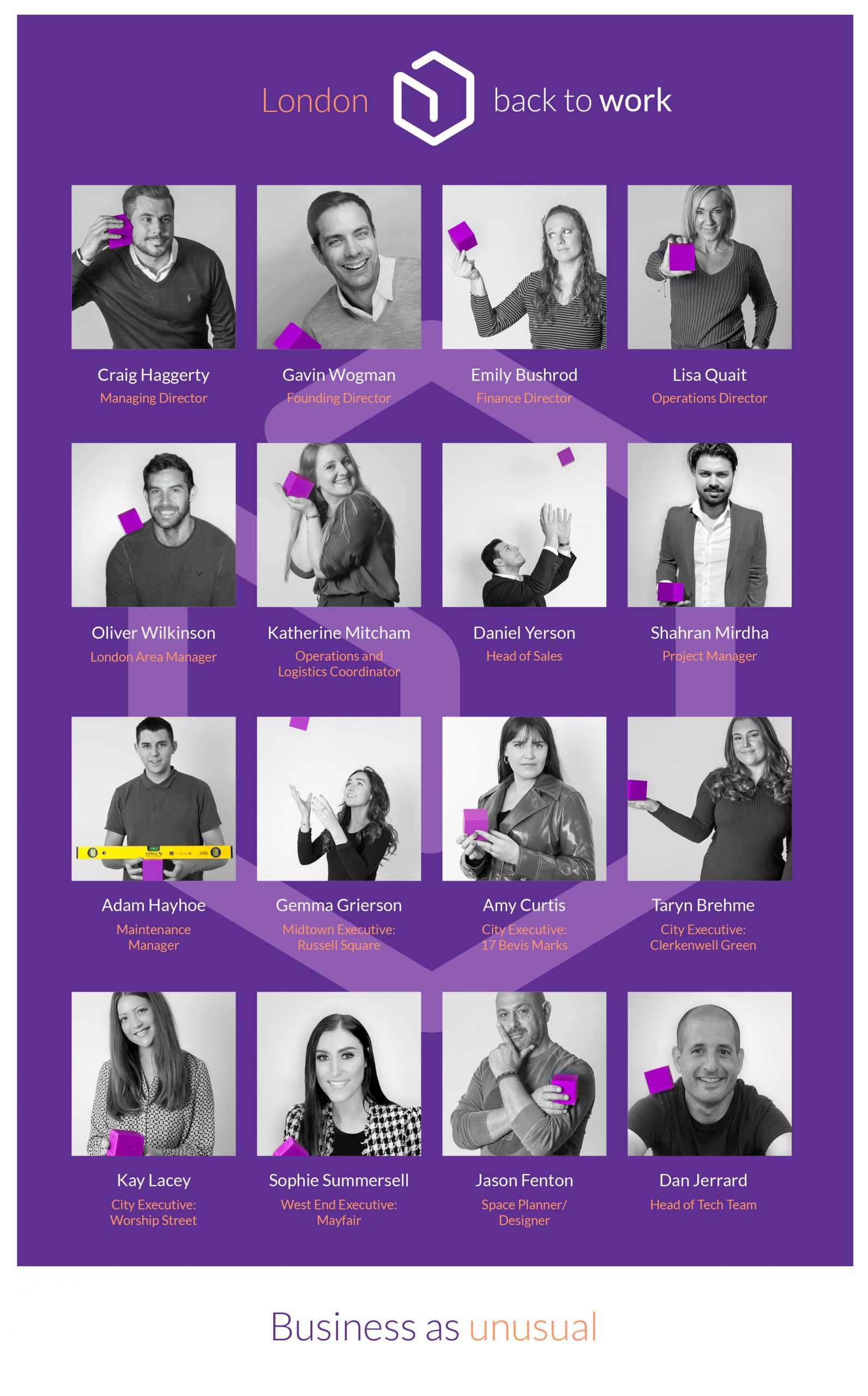 Business cube team poster